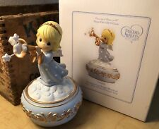Precious Moments Trumpeting Christmas Angel Music Box Hark Herald Angel Song