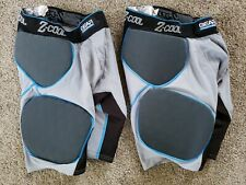 2 Mens Z-Cool Football Girdle Padded Compression Shorts ~ Gray ~ Mens small