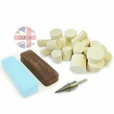 ALUMINIUM METAL POLISHING KIT 23 with compound & felts to create a mirror finish