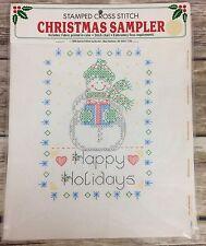 Bucilla Special Edition Christmas Snowman Sampler 63366 Cross Stitch New 1990