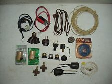 Box Lot Junk Drawer Electric Electrical Wiring Parts Supplies Audio Misc New Old