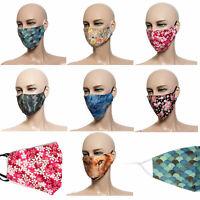 Maske Mundmaske Behelfsmaske schlichte Muster Mehrfarbig Unisex verstellbar Neu