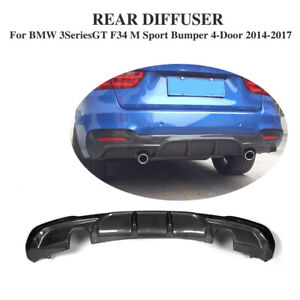 Carbon Rear Bumper Diffuser Bodykits Fit For 14-17 BMW F34 328i 335i GT M-Sport