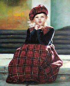Monica,Original Oil Painting by P. Hays,61 x 51 cm
