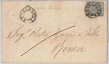 STATO PONTIFICIO : Sassone 3 su BUSTA con annullo TOSCANELLA senza data! 1865