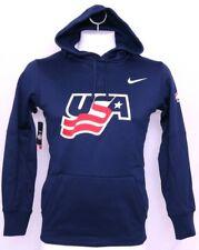 NEW United States USA Hockey Olympic Team Navy Nike Therma PO Hoody Men's S
