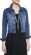 XL NWT Eileen Fisher Aged Indigo Organic Cotton Stretch Denim Crop Jean Jacket