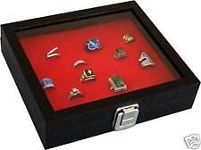 RING CASE rings box storage display for pins badges 36 Home Storage Jewelry