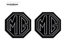 MG TF LE500 70mm Badge Insert Set Front Grill Rear Boot  MG Logo Silver/Black