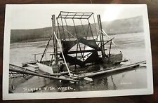RPPC  1951 RPPC REAL PHOTO ALASKA FISH WHEEL FORT YUKON BY GRIFFINS XF