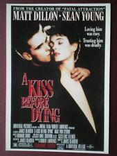 POSTCARD B41 ADVERT FILM POSTER FOR 'A KISS BEFORE DYING' MATT DILLON SEAN YOUNG