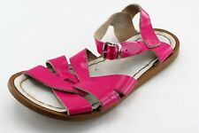 Salt Water Pink Leather Sandals Girls Shoes Size 2