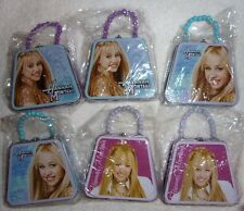 Lot of 6 Hannah Montana Miley Syrus mini size tin coin change purse