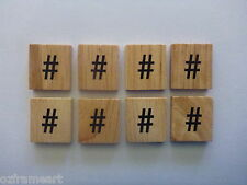 Wooden Scrabble Tile '#' HASH SYMBOL - Craft Scrapbooking Magnets Twitter Tag