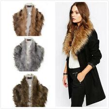 Womens Ladies Faux Fur Fluffy Collar Scarf Wrap Stole Fashion Thick fluffy Shawl