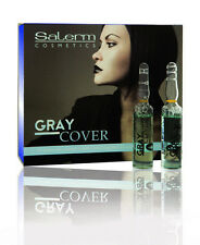 Salerm Gray Cover 12 phials x 0.17 oz (Cubre canas) 12 Ampollas x 5 ml