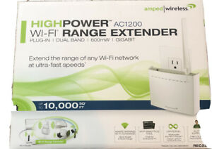 Amped Wireless High Power 802.11ac Wireless Range Extender Rec22a - Used
