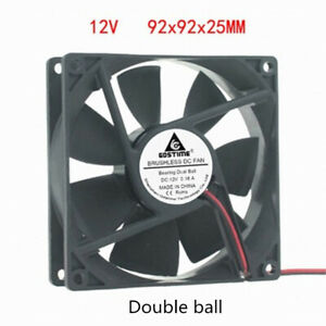 DC 12V 0.16A 9CM 9225 Double Ball Bearing Brushless Cooling Fan