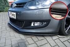 Alerón espada Front alerón labio ABS para VW Polo 5 6r con Abe negro brillante