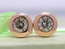 Diamant Brillant Ohrstecker Solitär 585 Rotgold 14Kt Gold Brillanten 0,84ct
