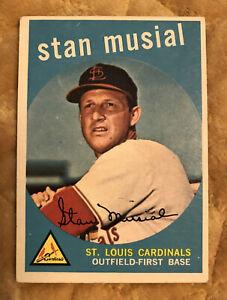 1959 Topps Stan Musial St. Louis Cardinals #150 Baseball Card