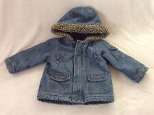 Mothercare Boys Padded warn/winter Denim Jacket/coat age 18-24 mths