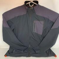 Under Armour Men's Large Fitted Black Gray Windbreaker Full Zip Jacket