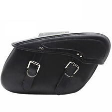 Universal Faux Leather Motorcycle Saddle Bags Motorbike Panniers Scooter Cruiser