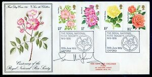 G.B. 1976 Roses set on souvenir fdc signed unknown signature (2020/06/09#01)