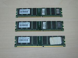 Transcend DDR1 1,5GB (3 X 512MB) PC3200 DDR-400 184pin TEST OK!