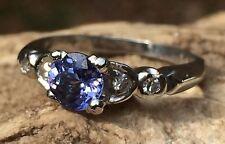 Art Deco Tanzanite & Diamond Platinum Engagement Ring AVP$1650 #1499
