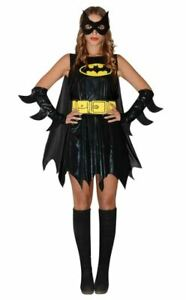 Batgirl Bat woman Outfit Fancy Dress Superhero Costume ONE Size Fits Most A572-3