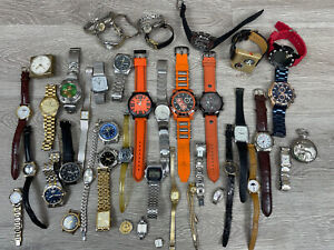 Large Lot of Watches, Untested For Repair or Parts