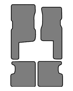 1998-2006 Hummer H1 4 pc Fronts Custom-Fit Carpet Floor Mats-Black