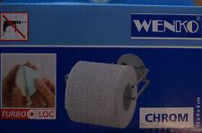 WENKO Toilettenpapierhalter CHROM Turbo Loc Toilettenpapier Klorolle Halter