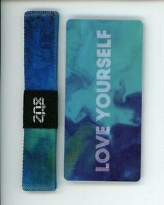 Medium ZOX Silver Singles Strap LOVE YOURSELF Wristband with Card Reversible