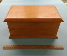 Vintage Wooden Casket Shaped Musical Jewellery Box
