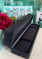 "Tiffany&Co. Black Suede Bracelet Box Gift Presentation Empty 8""x1.75""""x1.5"""