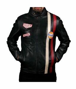 Le Mans Steve McQueen Black Leather Jacket