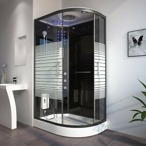 HOME DELUXE Dusche Duschkabine Duschtempel Fertigdusche Eckdusche Komplett