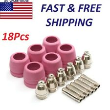 18 Consumables For Plasma Cutter AG60/SG55 Pilot Arc Welding Torch Tools