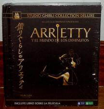 ARRIETTY Y EL MUNDO DE LOS DIMINUTOS COLECCION LUJO DIGIBOOK BLU-RAY+DVD NUEVO