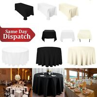 White Black Ivory Polyester Tablecloth Cover Cloth Wedding Anniversary Party
