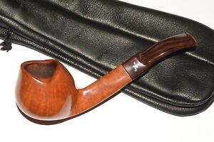 """ONCE USED ! NORDING HANDCUT """"16"""" GRADE FREEHAND BENT TULIP 9MM BRIAR PIPE pfeife"""