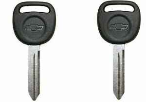New OEM Ignition Bow Tie Key Uncut Blade Blank For GM Chevy Truck 2 Pack