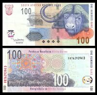 South Africa 100 Rand, 2005 P-131  Buffalo Zebra Banknote