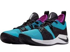 3b712512a19f Nike PG 2 Blue Lagoon Mens AJ2039-402 Black Violet Basketball Shoes Size  11.5