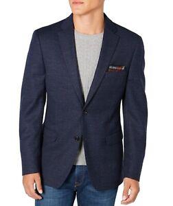 Tommy Hilfiger Mens Sports Coat Blue Size 44 Long ThFlex Tailored Wool $350 #354