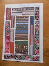 Original Book Print Grammar of Ornament Owen Jones 13x9 Inch Middle Ages 2