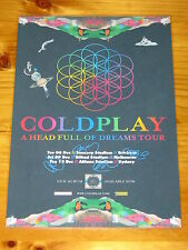COLDPLAY - A HEAD FULL OF DREAMS -  Australia Tour SIGNED AUTOGRAPHED  Poster